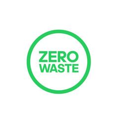 Zero waste bold text in center circle logo vector