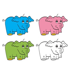 Cute cartoon elephant vector image