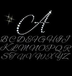 diamonds alphabet vector image