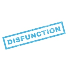 Disfunction rubber stamp vector