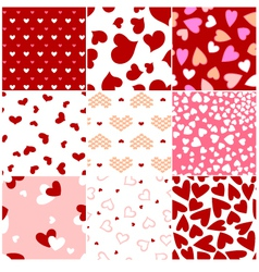 fashion heart seamless pattern vector image