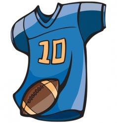 football jersey vector image vector image