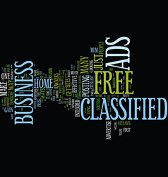 free classified ads text background word cloud vector image vector image