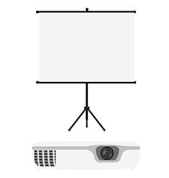 Projector and screen vector image