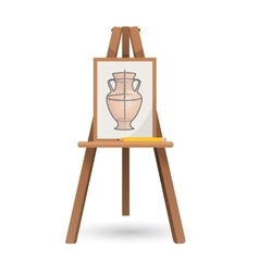 unfinished vase on isolated vector image vector image