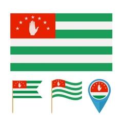 Abkhaziacountry flag vector image vector image