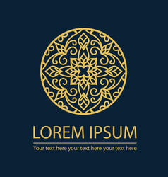 arabic style decorative element vector image