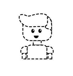 dotted shape man character to video game vector image vector image
