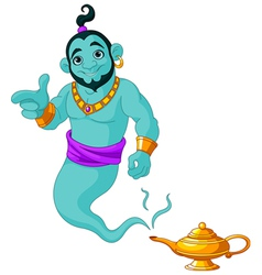 Genie granting the wish vector image vector image