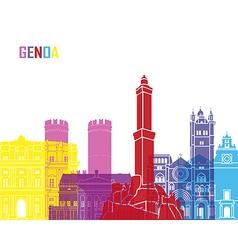 Genoa skyline pop vector image vector image