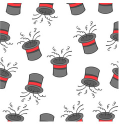 pattern hat circus design collection vector image