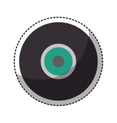 retro vinyl isolated icon vector image vector image