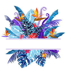 tropical plants background vector image vector image