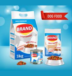 dog food brand ad realistic vector image