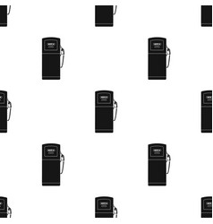 fuel dispencer icon in black style isolated on vector image