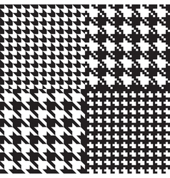 houndstooth patterns set vector image vector image