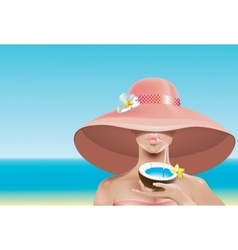 Sexy face in hat vector image
