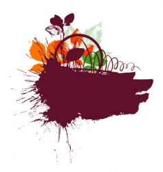 text blank watercolour vector image