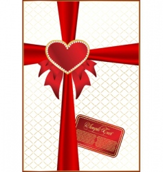 valentines vector background with heart vector image vector image