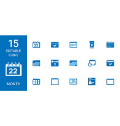 15 month icons vector