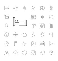 33 direction icons vector