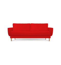 3d realistic render red leather luxury vector image