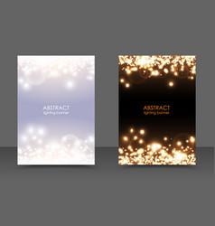 abstract sparkling christmas lights magic vector image