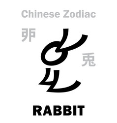 Astrology rabbit sign chinese zodiac vector