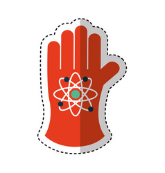 Atomic glove isolated icon vector