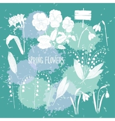Background with Snowdrops-12 vector