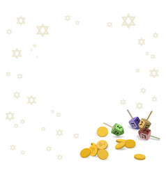 background with traditional symbols of hanukkah vector image