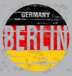 berlin tee poster graphic design vector image