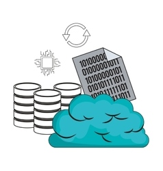 big data related icons image vector image