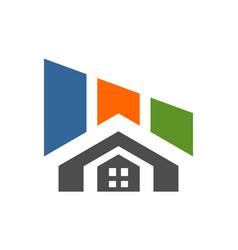 building residence home logo concept icon vector image
