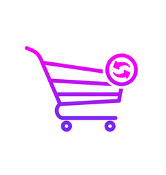 buy cart refresh shop store icon vector image