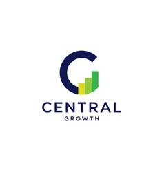 C letter logo chart bar statistic icon vector