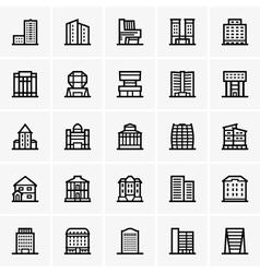 Civil buildings vector image vector image