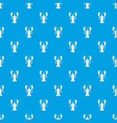 Crawfish pattern seamless blue vector