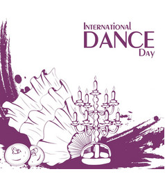 Dance day belly dance accessories vector