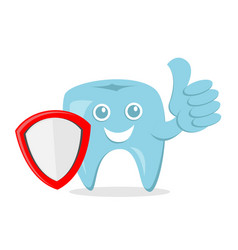 Dental protection cartoon with smile face and vector