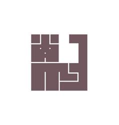 Dog logo simple style pet symbol sign vector