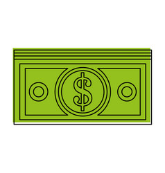 Dollar bills money icon image vector
