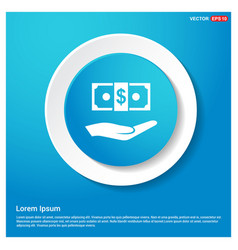 dollar in hand icon vector image