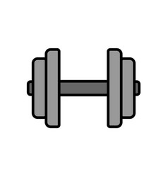 dumbbell icon fitness equipment for hand muscle vector image
