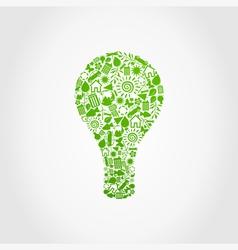 Ecology a bulb vector