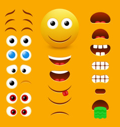 emoji creator design collection vector image