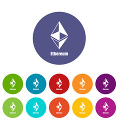 ethereum icon simple style vector image