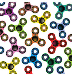 fidget spinner focus toy colorful background vector image