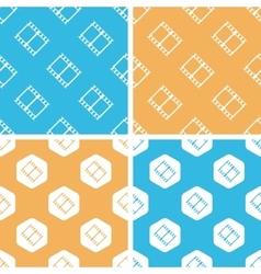 Film strip pattern set colored vector