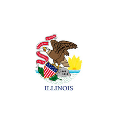 Flag illinois state coat of vector